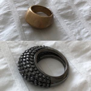 Statement ring bundle (2) varied sizes